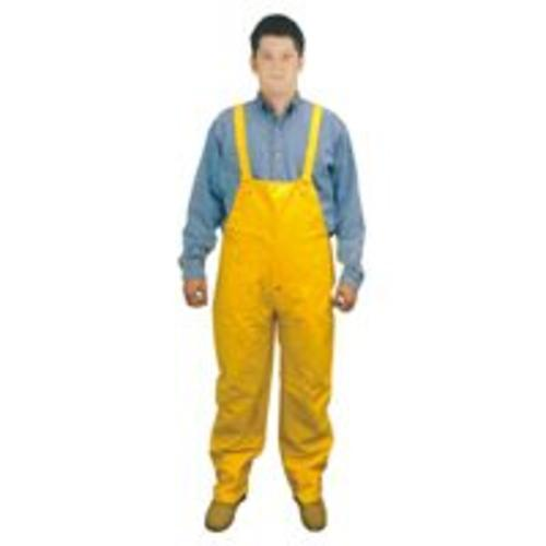 "Diamondback 8117B-XXXL Pvc Rain Bib Overall, Yellow, 33-1/2"" x 0.40 Mm"