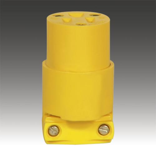 Cooper Wiring 4227-BOX Vinyl Connector, 615 NEMA, Yellow