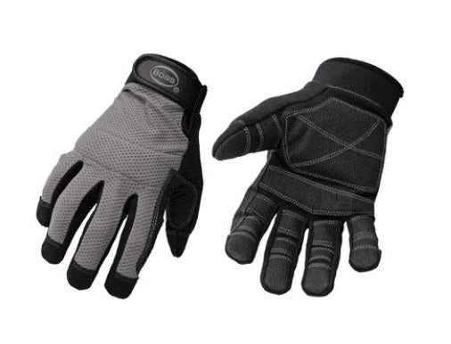 Boss 5204X Men's Mesh Back Utility Glove, X-Large, Black/Gray