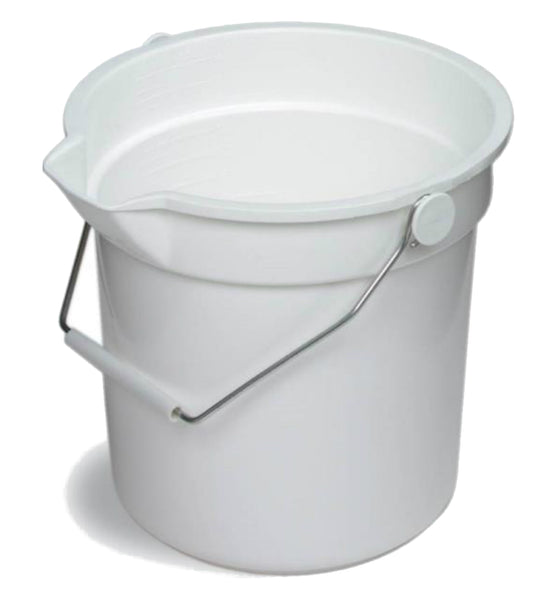 Continental Commercial 8110WH Huskee Refuse Bucket, 10 Qt, White