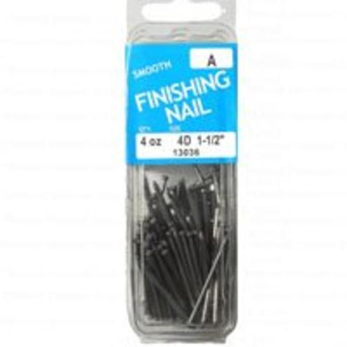 Midwest 13036 Smooth Finishing Nails, 4d x 1-1/2