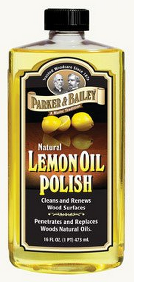 Parker & Bailey 510664 Natural Lemon Oil Polish, 16 Oz