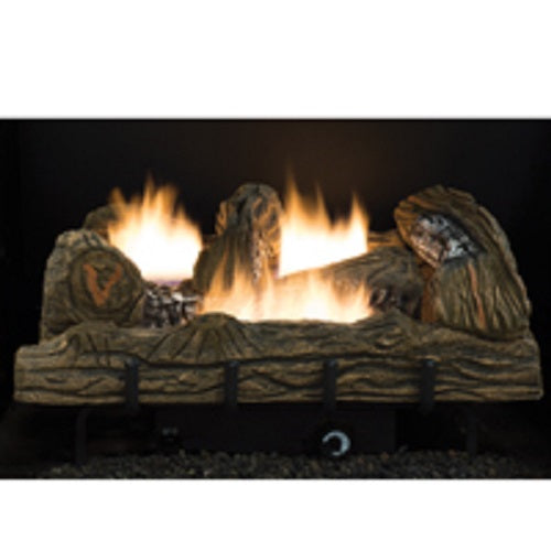 Comfort Flame CF2436NT Vent-Free Natural Gas Log Set, Whispering Oak, 24""