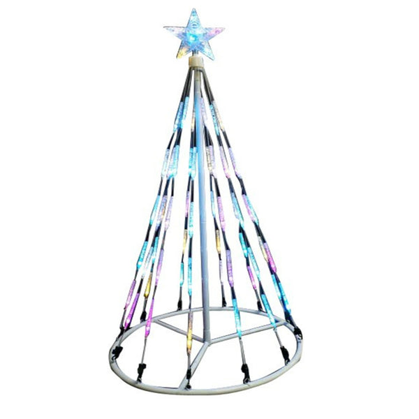 Santas Forest 60404 Changing LED Bubble Light Cone Tree, 4 Ft