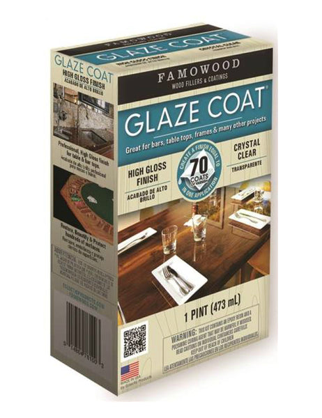 Famowood 5050060 Glaze Coat Epoxy Hi Build Coat, 1 Pint