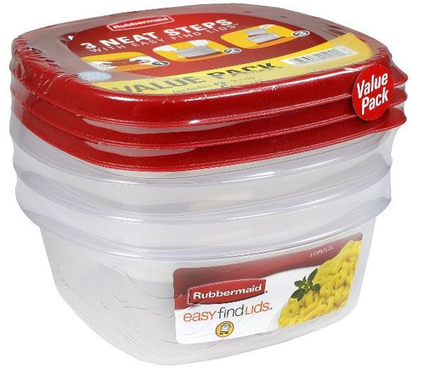 Rubbermaid 1777166 Durable Food Container, 3.2 Cup Capacity