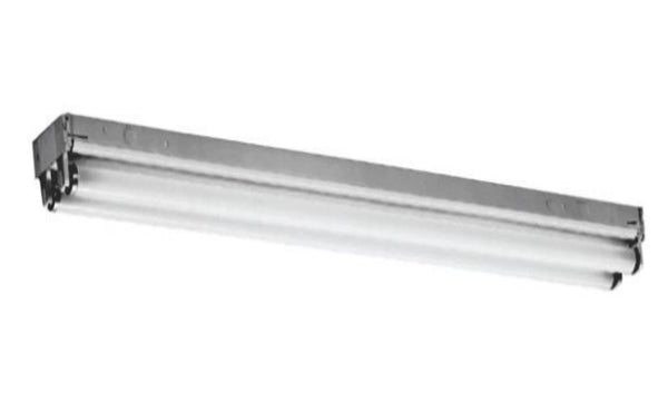 Lithonia Lighting C232MVOLT-GEB10IS 2-Light Gloss White Fluorescent Strip Light