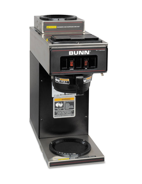 Bunn Vp17-2 Pourover Commercial Coffee Maker with 2 Warmers, 12 Cup