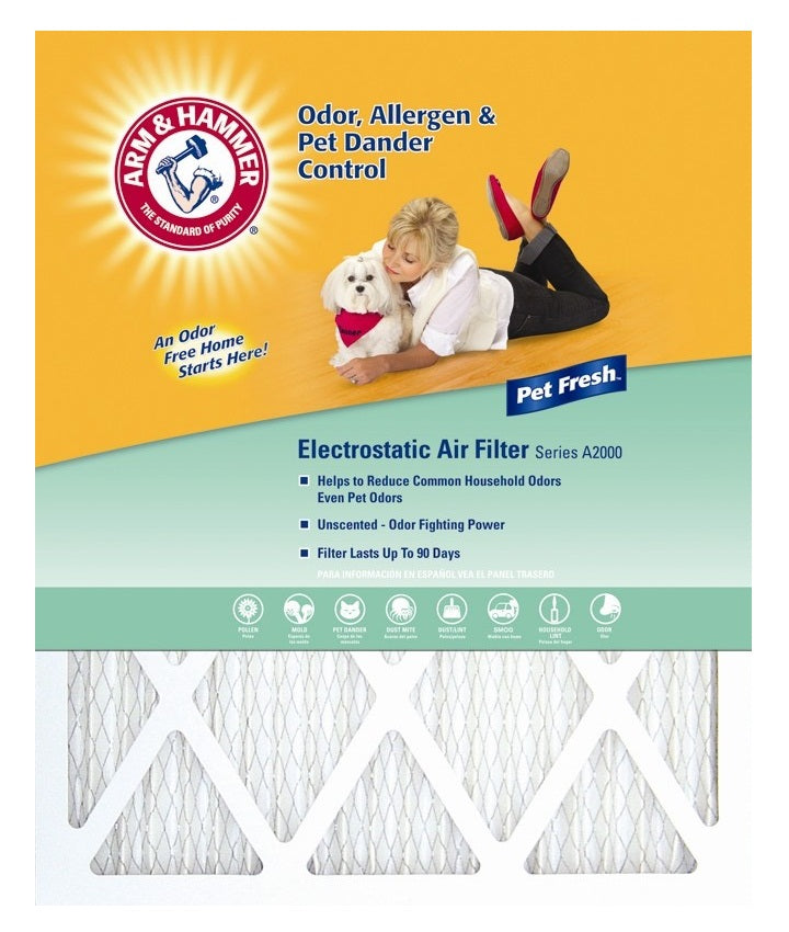 "Arm & Hammer AFAH1420 Pet Fresh Pet Protection Air Filter, 14"" x 20"" x 1"""