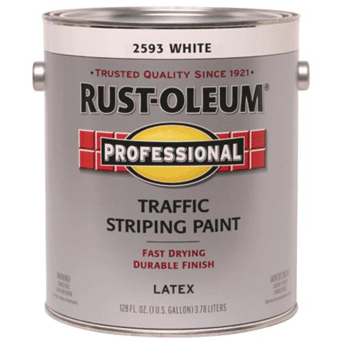 Rust-Oleum Professional Traffic Striping Paint, 1 Gal, Traffic White
