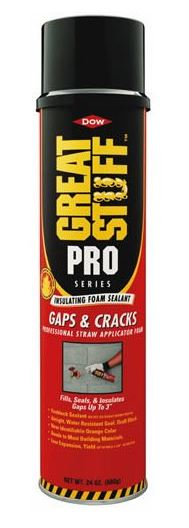 Great Stuff 341553 Pro Insulating Foam Straw Sealant, 24 Oz