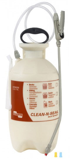 Chapin 25020 Clean 'N Seal Deck Poly Sprayer, 2 Gallon