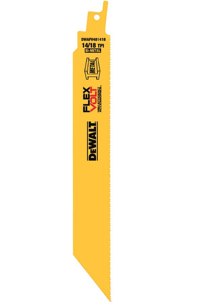 "DeWalt DWAFV481418 Flexvolt Reciprocating Saw Blade, 8"", 5/Pack"