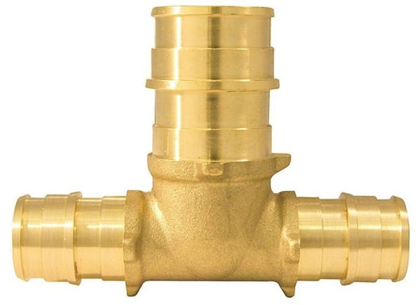 "Apollo EPXT121234 Pipe Reducing Tee, Brass, 1/2"" x 1/2"" x 3/4"""