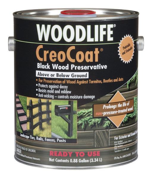 Rust-Oleum 14436 Creocoat Wood Preservative, 1 Gallon, Black