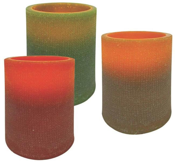 "Holiday Basix E03394 Pillar Candles, 4"", 3 in 1"