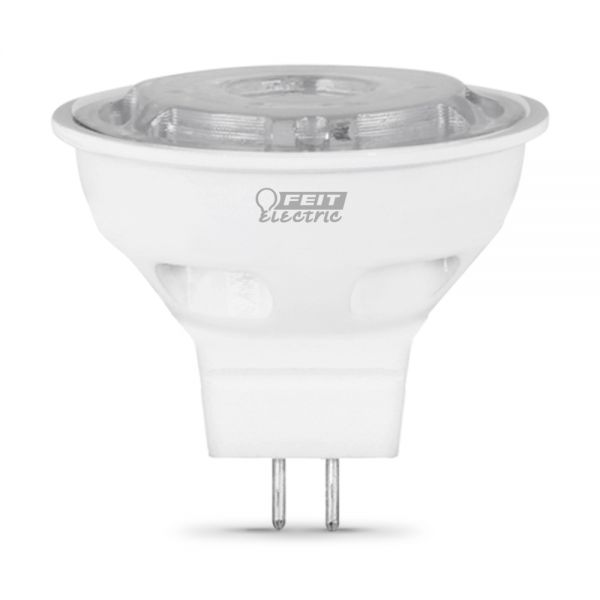 7 Watt 3000k Feit Led Dimmable Gu10 Base Mr16 Light Bulb: Feit Electric BPBAB/LED Dimmable Bi-Pin LED, 200 Lumen