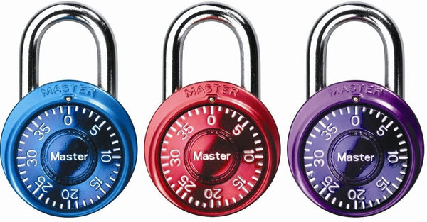 Master Lock 1533TRI Mini Combination Padlock, 1-9/16""