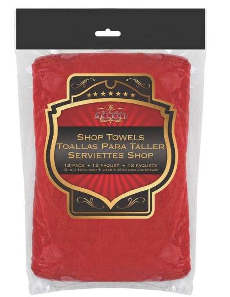 SM Arnold 85-765 Woven Shop Towel, Mechanic red