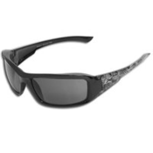 Wolf Peak XB116-S Black Skull Frame Safety Glass, Smoke Lens