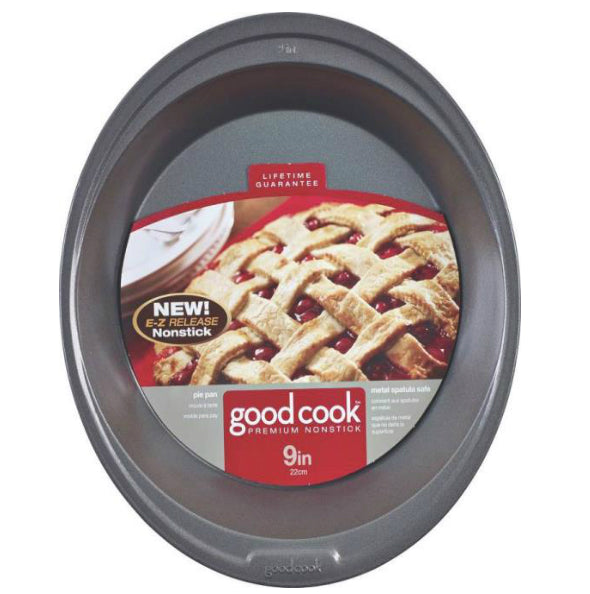 Good Cook 04035 Premium Bakeware Pie Pan, Non Stick, 9""