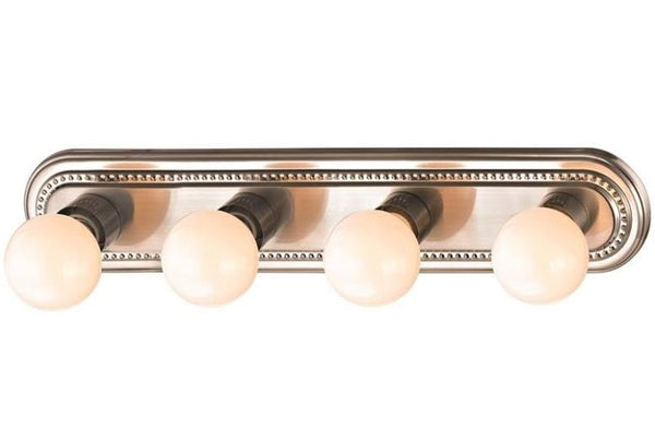 Boston Harbor 918-4-BN 4-Light Bath Bar Light, Brushed Nickel, 24""