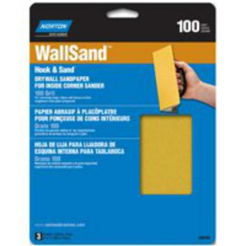 "Norton 07660768103 Hook & Loop Drywall Sandpaper, 8""x7"""