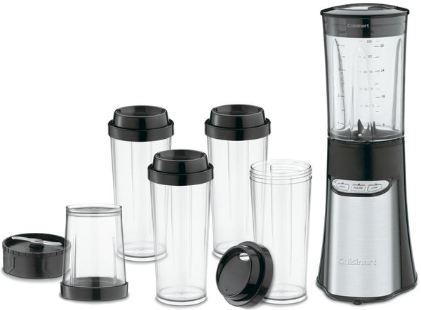 Cuisinart CPB-300 SmartPower Compact Portable Blending/Chopping System, Black, 15-Piece