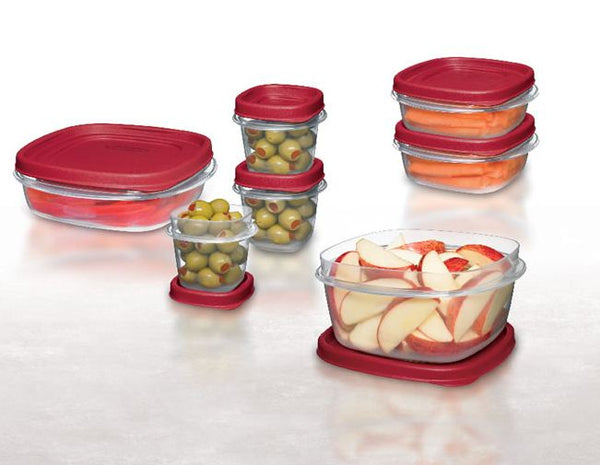 Rubbermaid 1777170 Food Storage Container Set With Lids, 18 Piece