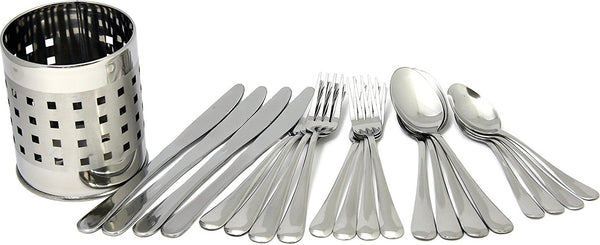 Chef Craft 21710 Flatware Set With Holder, 20 Pieces