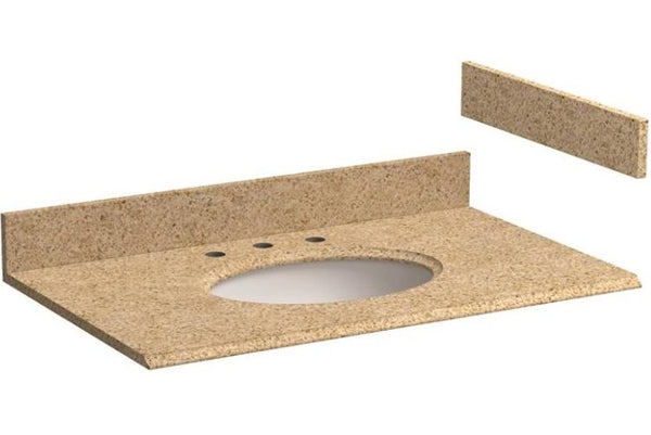 "Foremost HG37228MB Mohave Beige Granite Vanity Top, Beige, 37"" X 22"" X 3/4"""