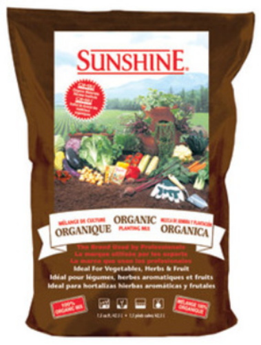 Sunshine 116 2.50 CFL P Natural & Organic Planting Mix, 2.5 cu.ft.