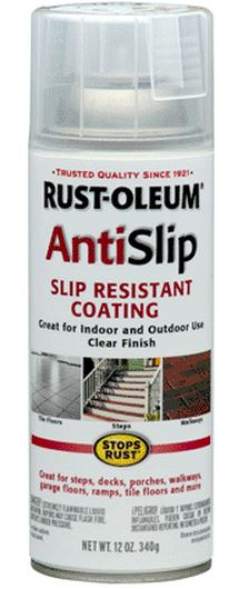 Rust-Oleum 271455 Clear Anti-Slip Coating, Aerosol, 12 Oz.