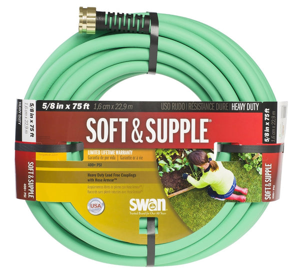 "Swan SNSS58075 ""Soft&Supple"" Supple Hose 5/8""X75' - Green"