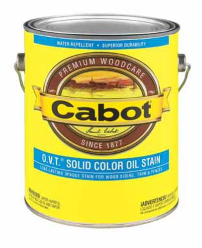 Cabot 01-6508 Solid Color Flat Cedar, Medium Base, 116 Fl.Oz.