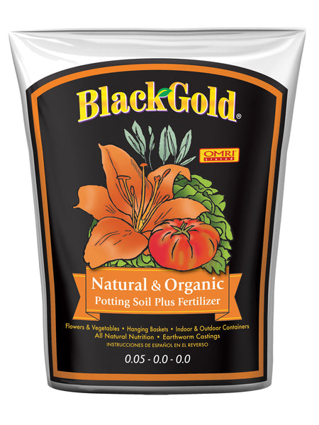 Black Gold 1402040 1 CFL P Natural And Organic Potting Soil, 1 cu.ft