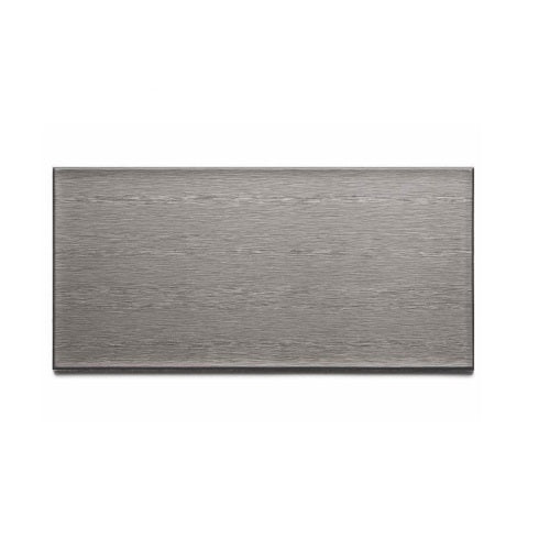 "Aspect F52-50 Stainless Steel Long Grain Wall Tiles, 3"" x 6"""