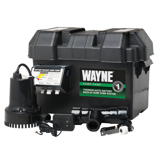 Wayne ESP15 Battery Back-Up Sump Pump System, 1/4 HP, 12 V
