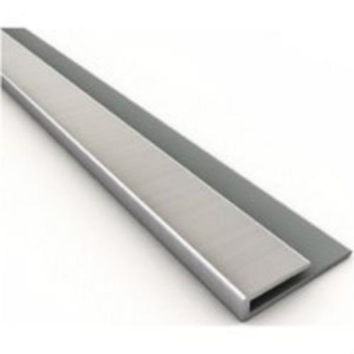 Fasade 923-29 Thermoplastic Edge J Trim, Brushed Nickel