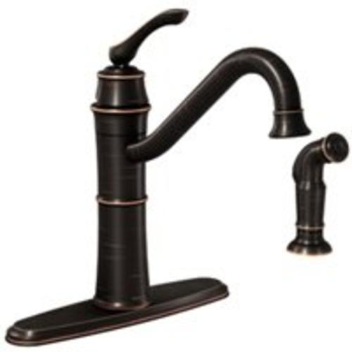 Moen 87999BRB Wetherly Single-Handle Kitchen Faucet, Bronze