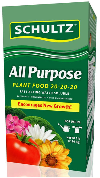 Schultz SPF70690 All Purpose Water Soluble Plant Food 20-20-20, 5-Lb