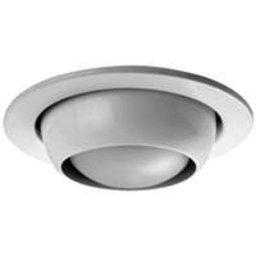 "Power Zone TRIM205-WH (MTM4 Eyeball Recessed Light Fixture Trim, 4"", White"