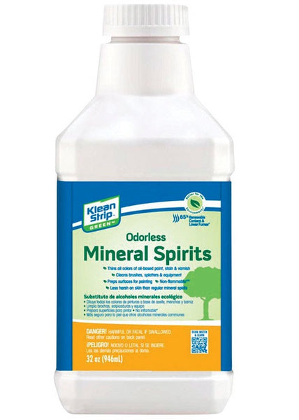 Klean Strip QKG075CA Odorless Mineral Spirits Substitute Carb, 32 Oz