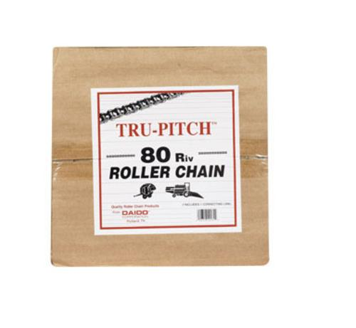 "Daido TRC80R-MD Roller Chain No. 80, 1"" X 10', Carbon Steel"