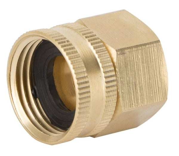 "Landscapers GHADTRS-9 Brass Double Swivel Hose Connector, 3/4"" FNPT x 3/4"" FNH"