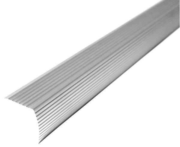 "M-D Building 43309 Fluted Stair Edge, Metallic, 1.125"" H x 1.22"" W x 36"" D"