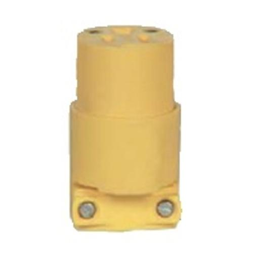 Cooper Wiring 4229 3-Wire Ground Connector, 20 Amp, Yellow