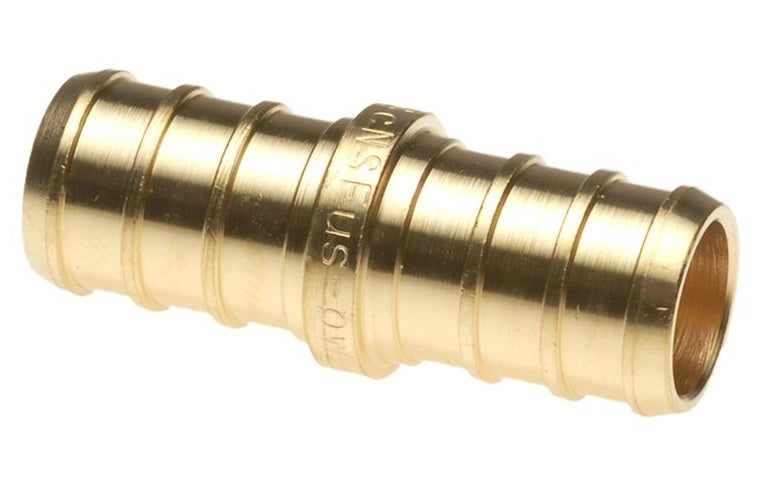 "Apollo Valves CPXC1212 Brass PEX Coupling, 1/2"" x 1/2"""