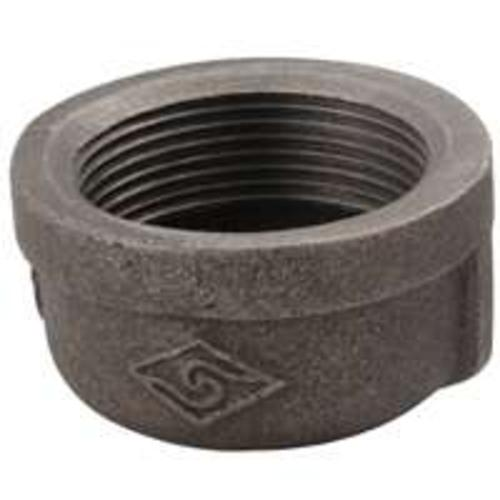 "Worldwide 18-1/2B Malleable Iron Cap, 1/2"",Black"