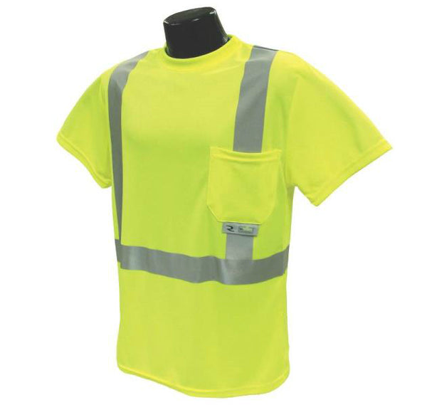 Radians ST11-2PGS-XL Class 2 T-shirt Moisture Wicking, Green, X-Large